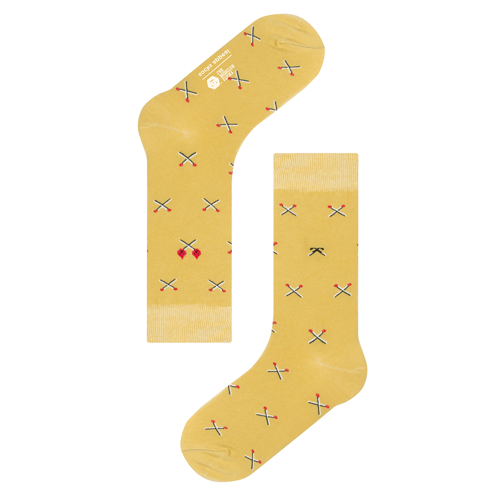 socksappeal  SML, matches yellow pattern