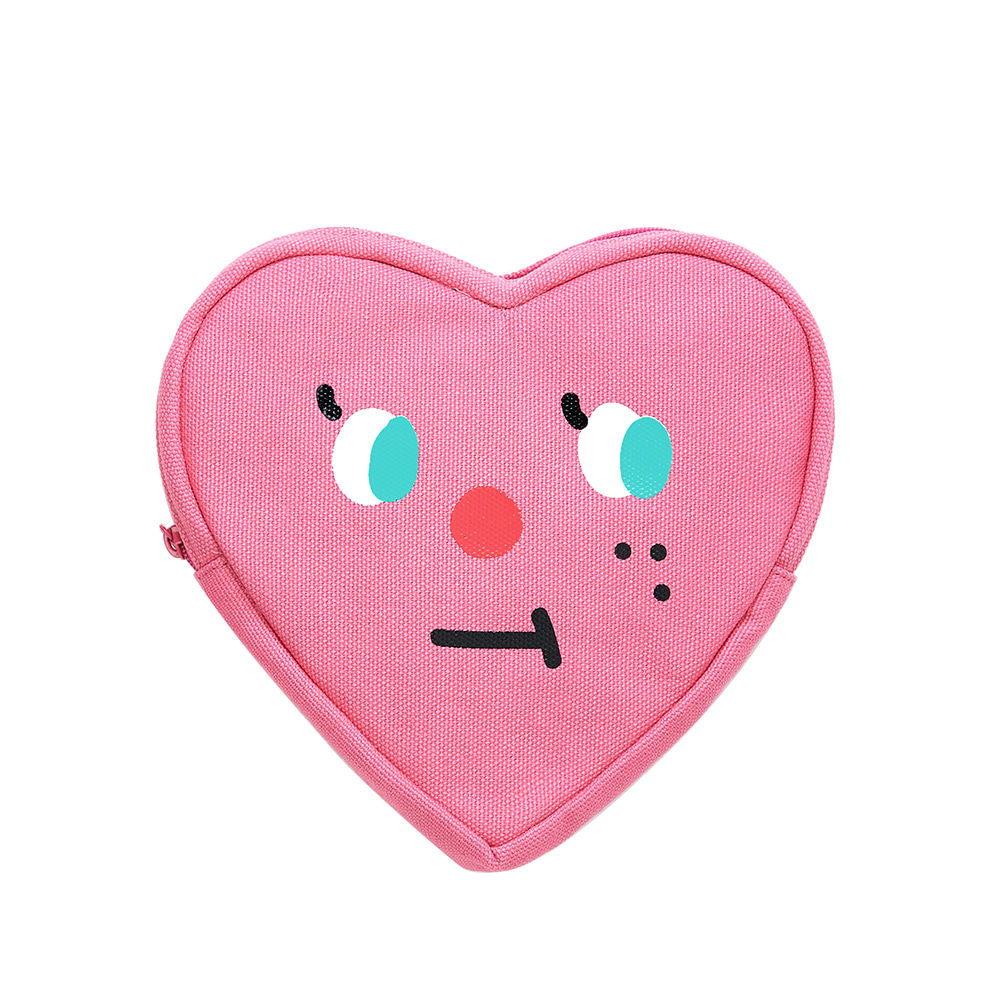 slowcoaster pink heart pouch