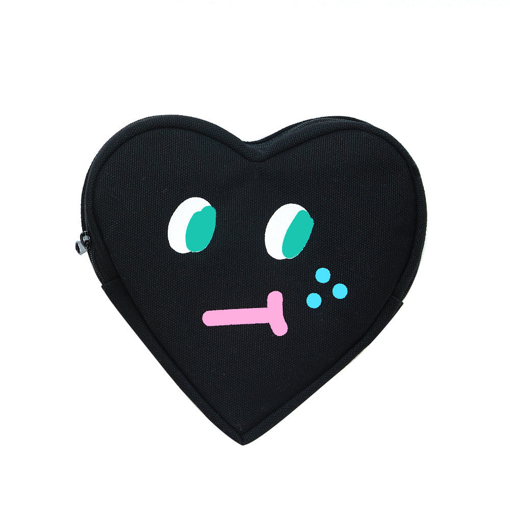 slowcoaster black heart pouch