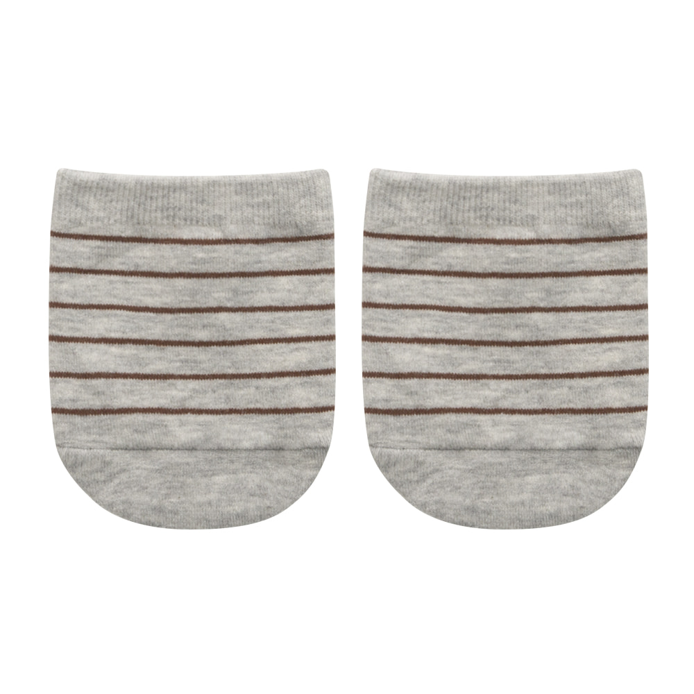 half stripe melange grey