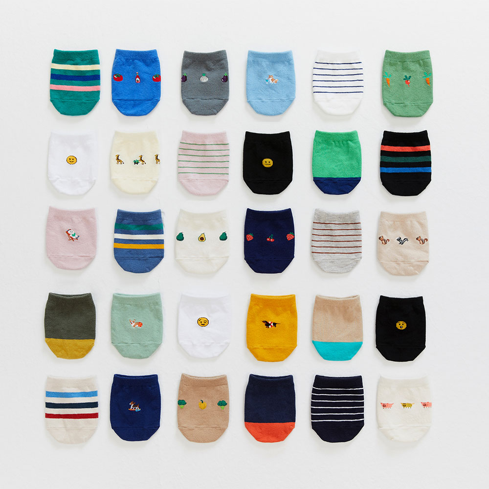 half socks 5pack (OPEN EVENT 20% OFF)