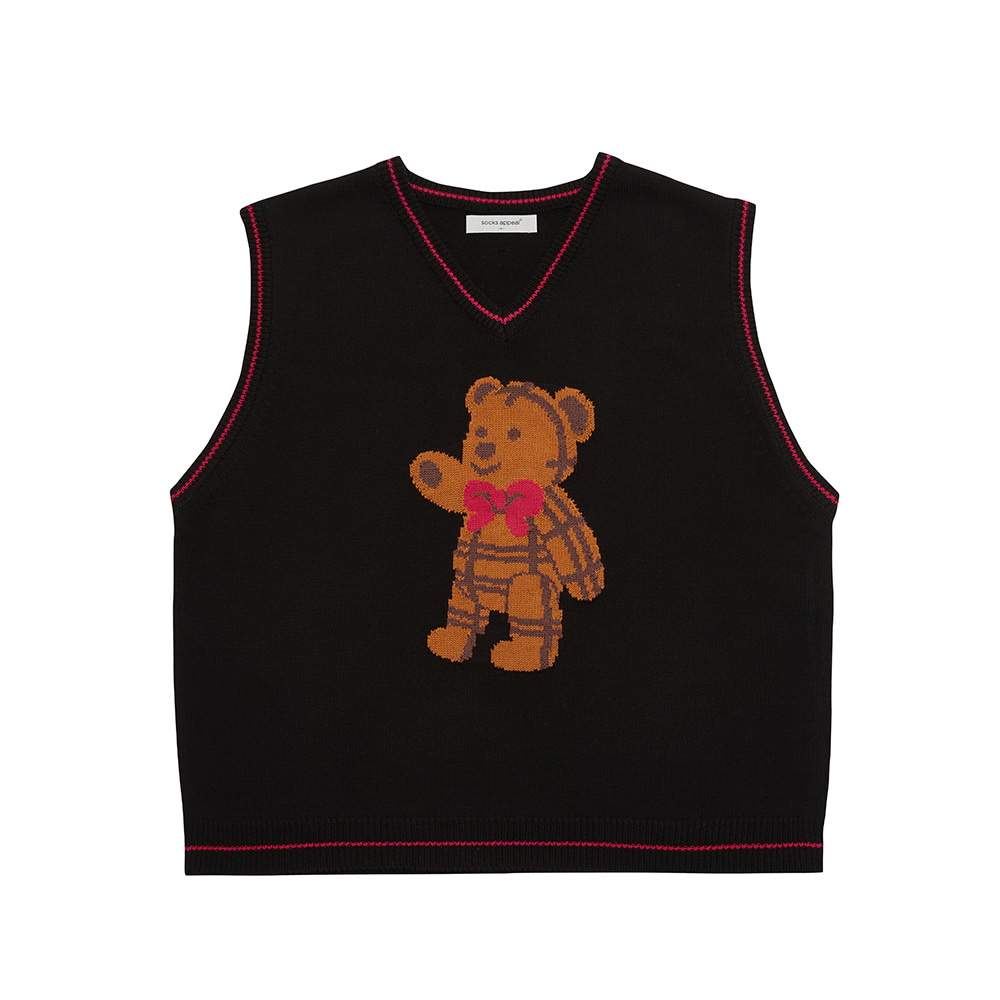 paddington teddy vest black (OPEN EVENT 20% OFF)