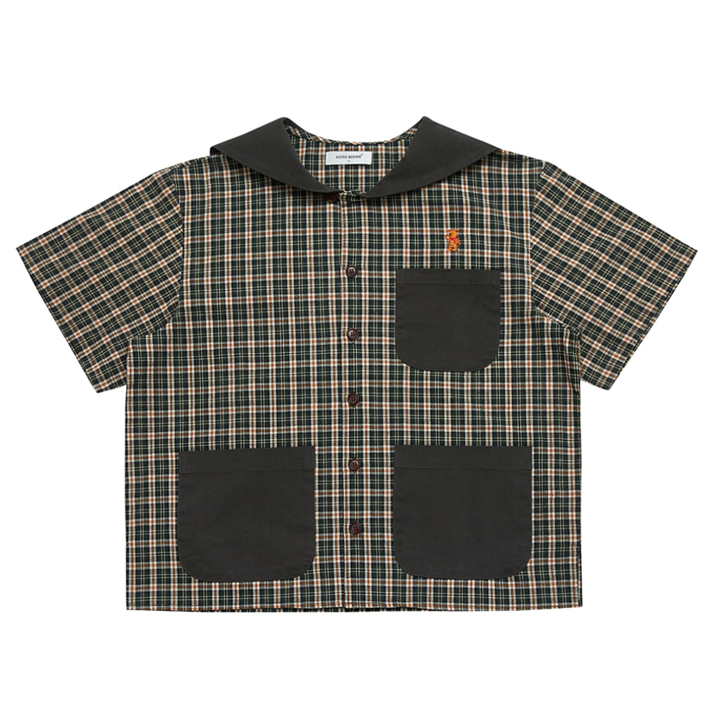 paddington sailor shirt teddy green (OPEN EVENT 20% OFF)