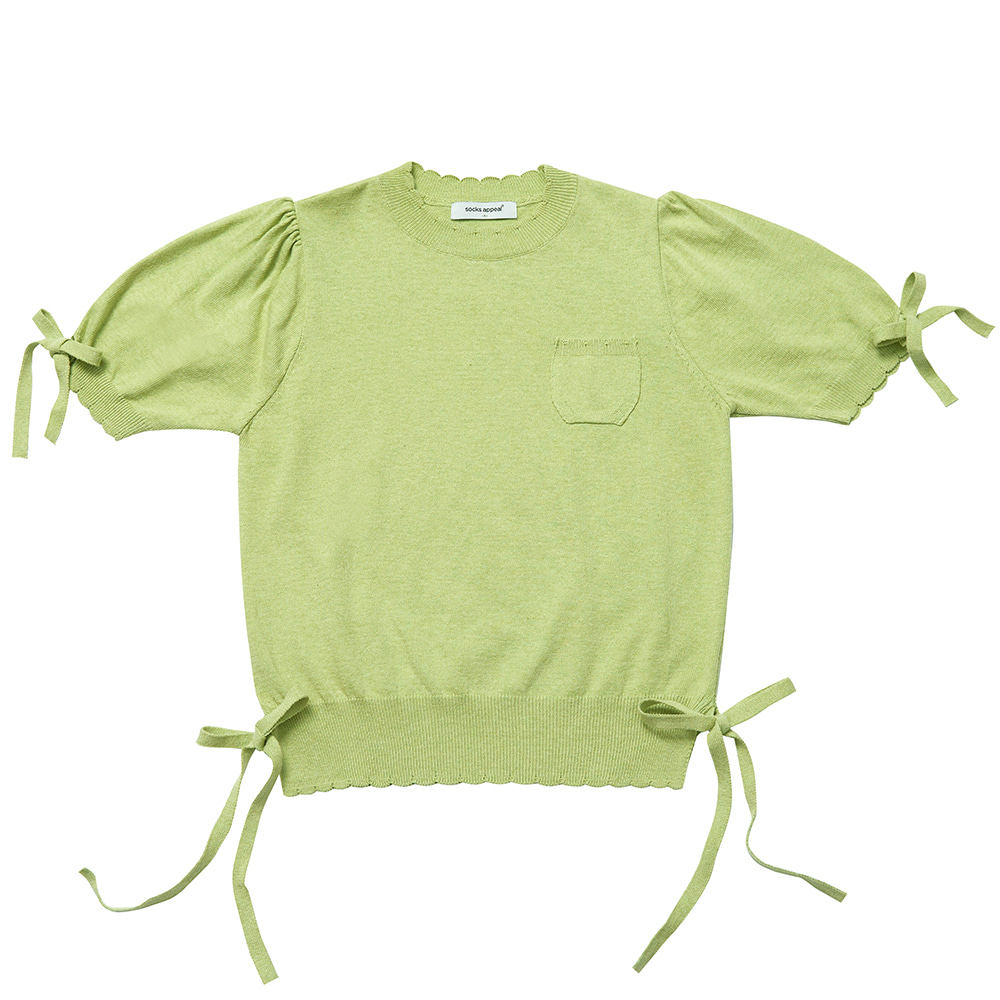 RIBBON GIRL summer knit melon (EVENT 10% OFF)