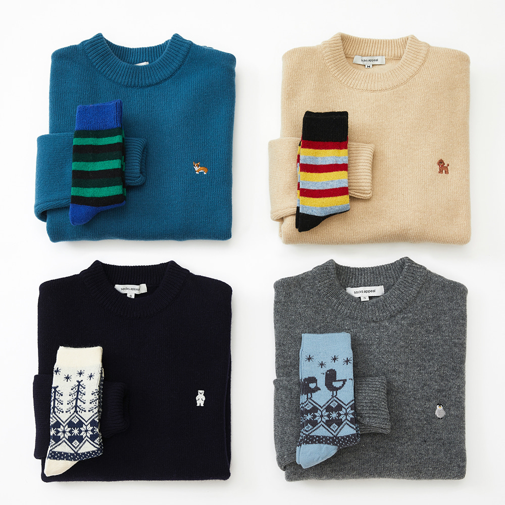 knit + wool socks gift set (20% OFF)