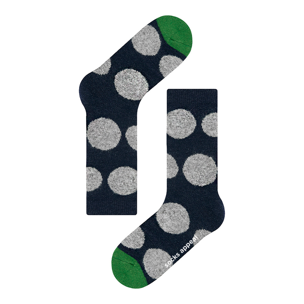 wool pebble dot navy
