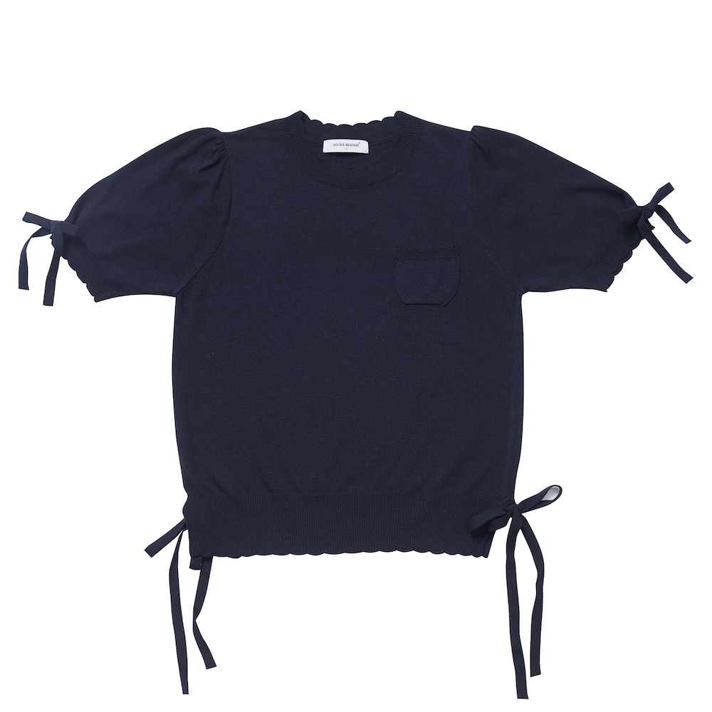 RIBBON GIRL summer knit navy (EVENT 10% OFF)